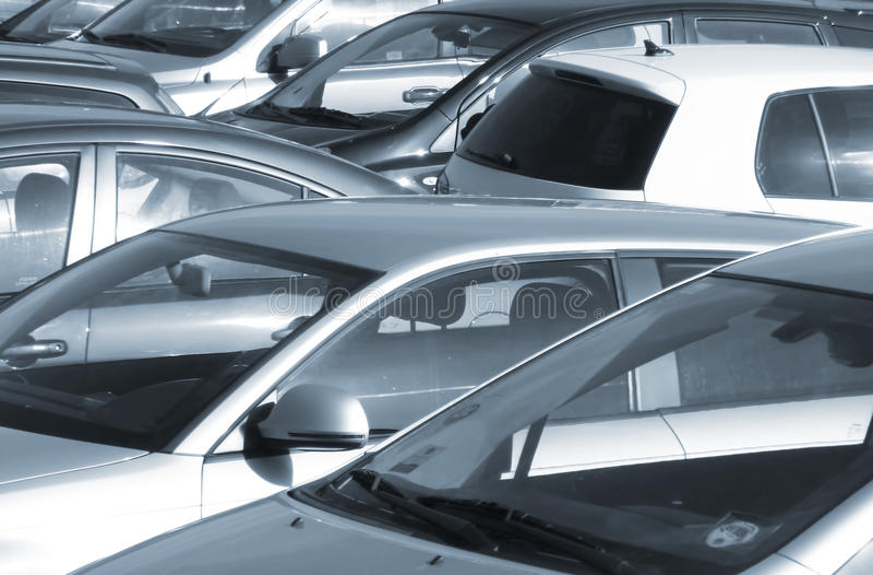 Parkujący samochody zdjęcie stock