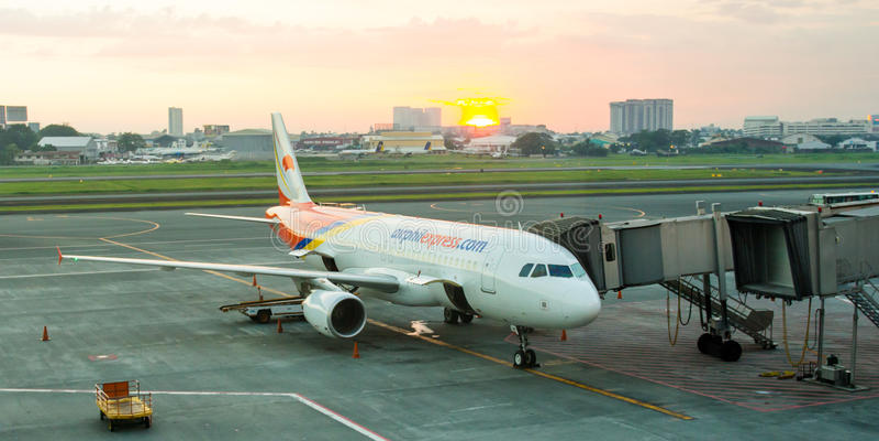Parkujący Samolot fotografia royalty free