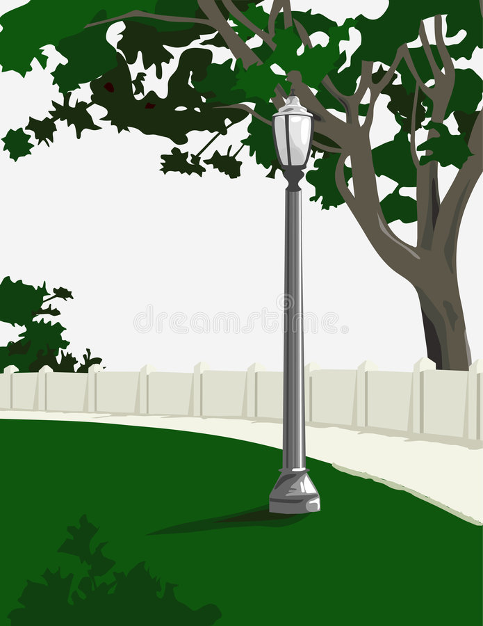 parkwalkway stock illustrationer