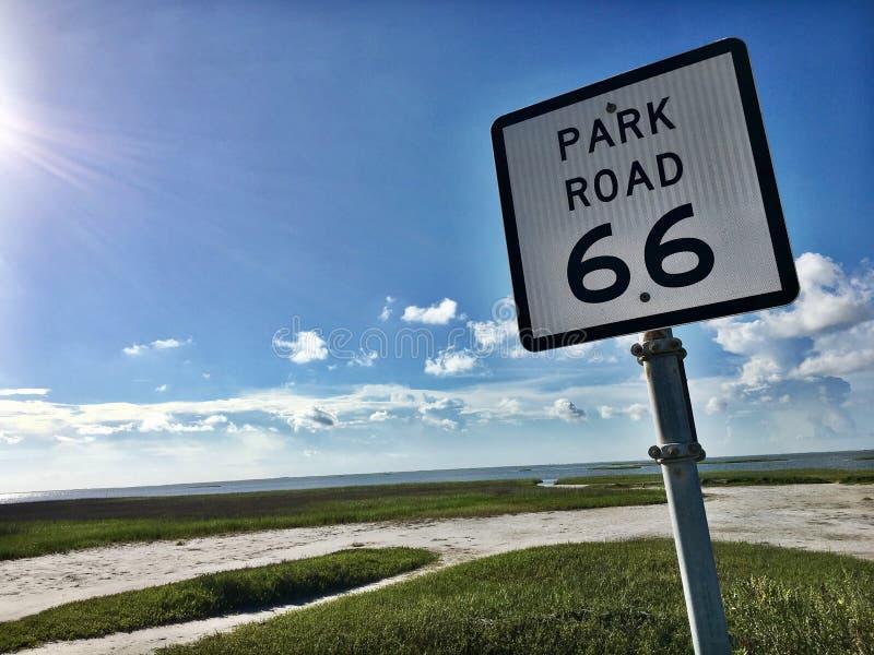 Parkweg 66, Galveston, Texas stock foto's