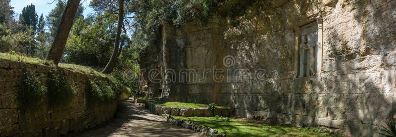 Parkweg gewijd aan Robert Koch op het eiland van Brijun Veliki Brijun stock foto