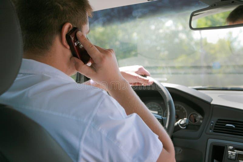 Parla dal telefono immagini stock libere da diritti