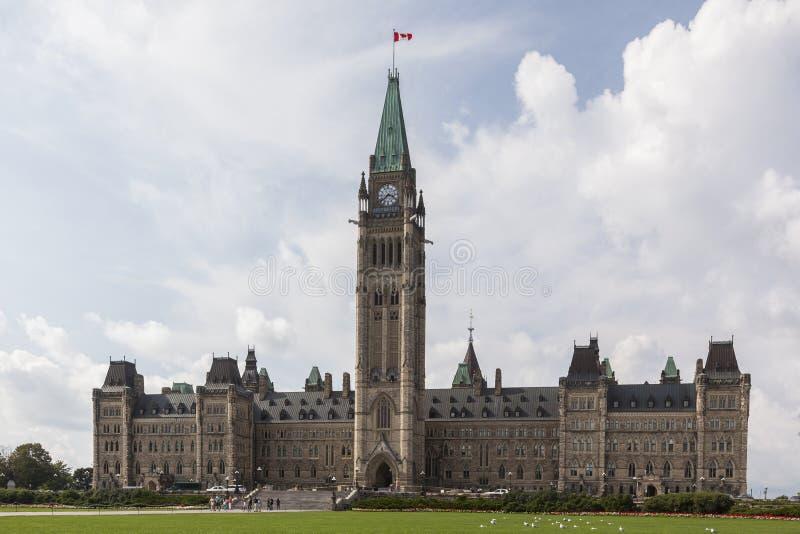 Parlament av Kanada royaltyfri fotografi