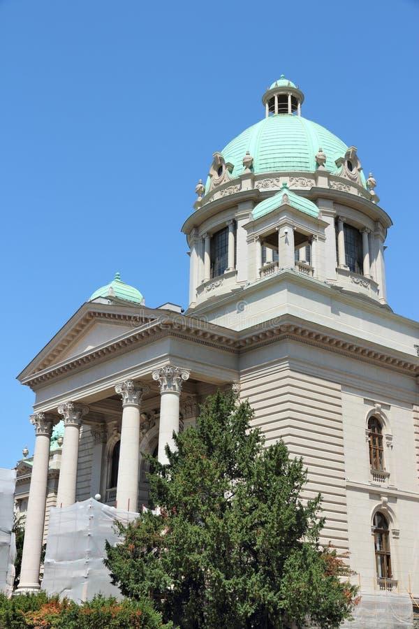 Parlament av Serbia royaltyfria bilder