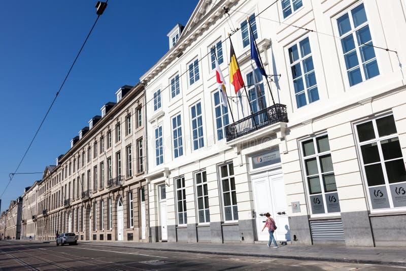 Parlament av Wallonie-Bruxelles i Bryssel, Belgien fotografering för bildbyråer
