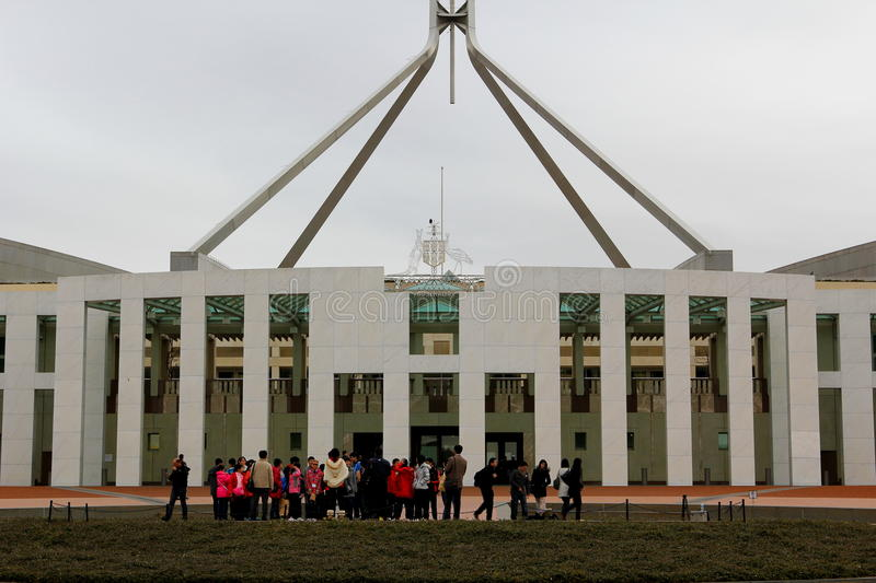 Parlament Canberra stockfotos