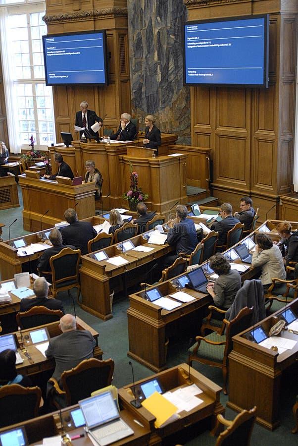 parlament duńska sesja zdjęcie stock
