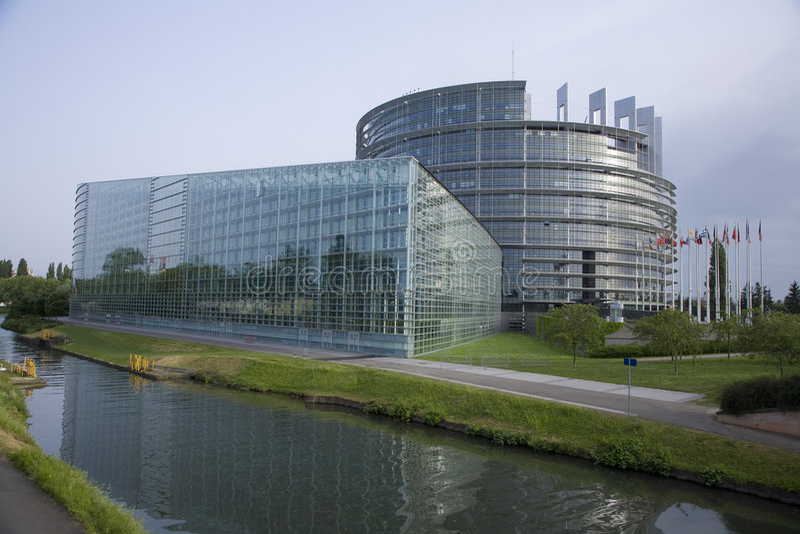 parlament europejski zdjęcia stock