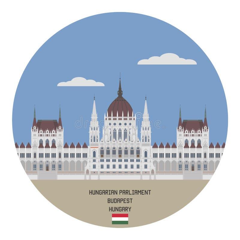 parlament hungarian Budapest, Węgry ilustracja wektor