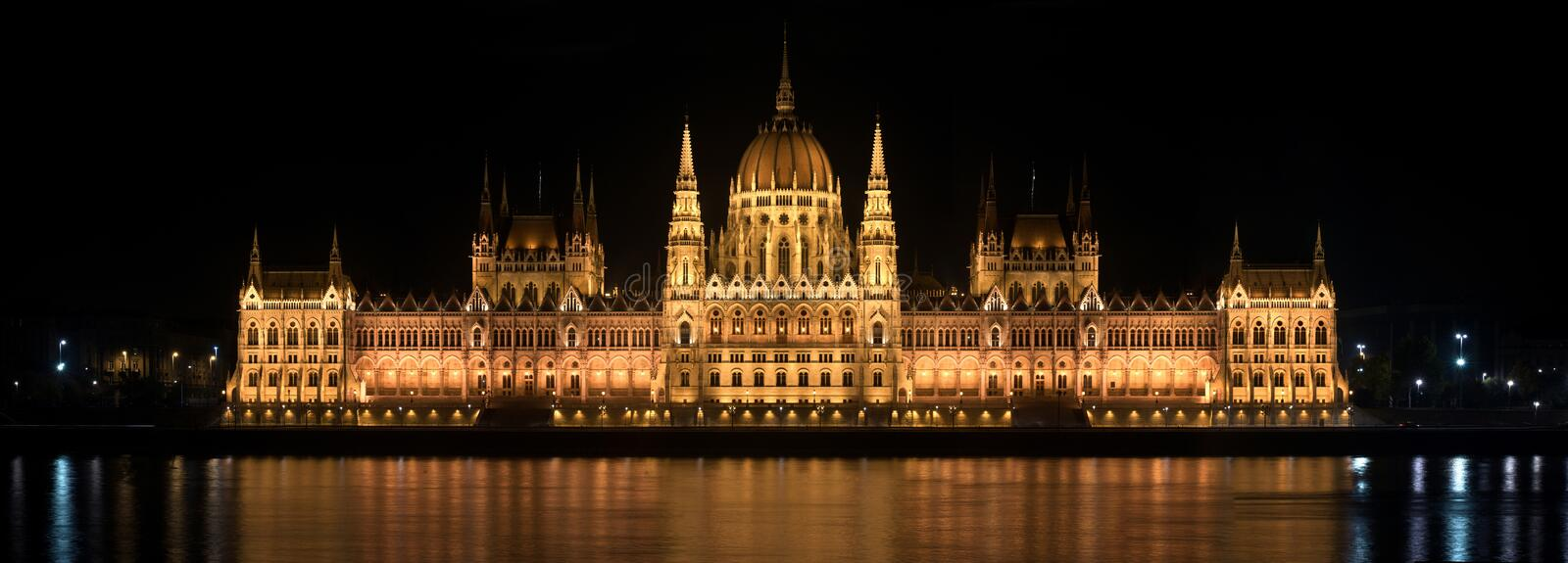 Download Parlament In Hungary At Night Stock Image - Image of dark, building: 22090655