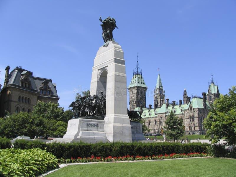 Parlament Kanada, bohaterzy Pomnikowi fotografia royalty free