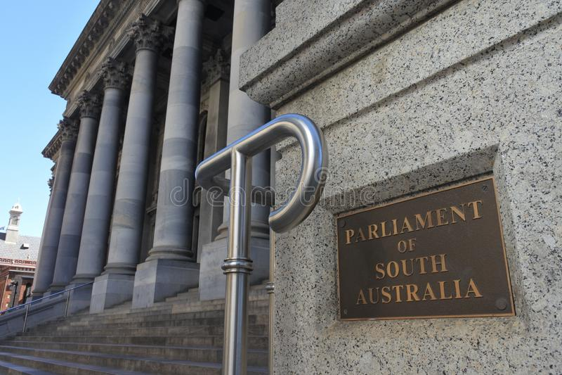 Parlament Po?udniowy Australia w Adelaide Po?udniowy Australia fotografia royalty free