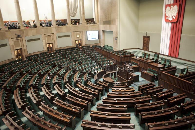 parlament polerujący sejm obrazy stock