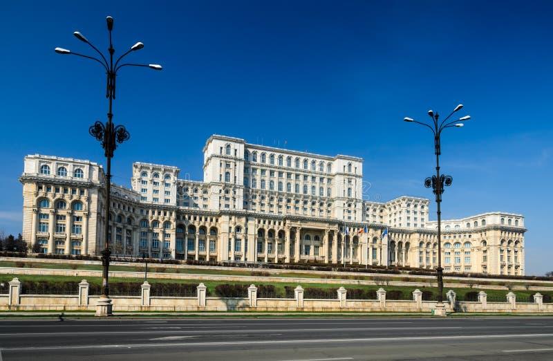 Parlament von Rumänien-Gebäude, Bucharest lizenzfreie stockbilder