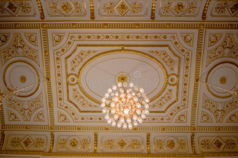 Parlament w wielkim Redouten Hall w Viennas Cesarskim pałac Hofburg, Austria zdjęcia stock