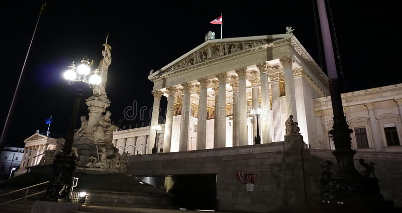Parlament in Wien stockfoto