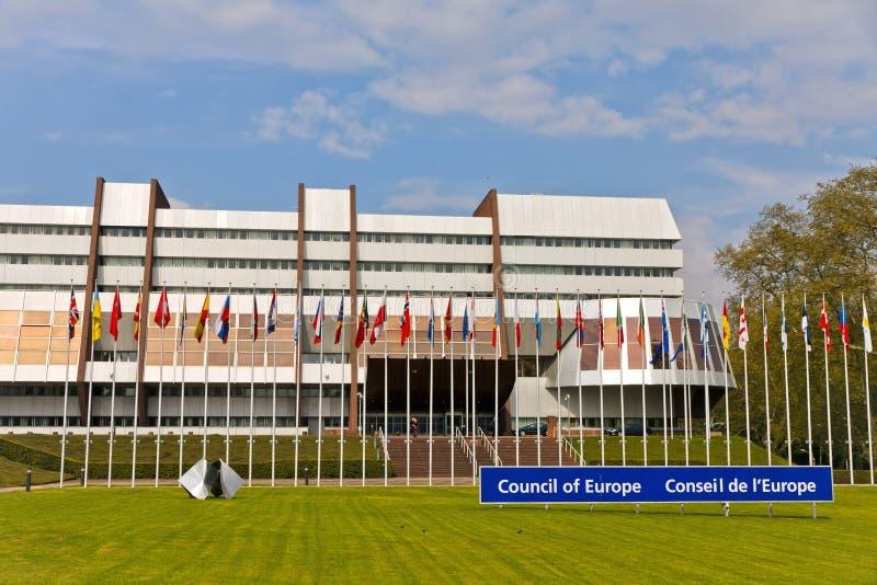 Parlamentarischer Zusammenbau des Europarats stockbild