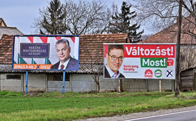 Parlamentary-Wahlen in Ungarn stockfotos