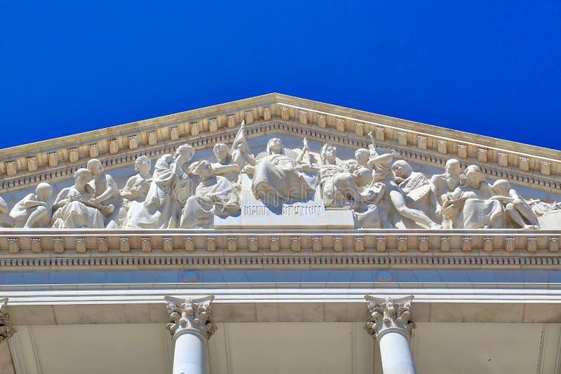 Parlamentbyggnad, enhet av republiken, Lissabon, Portugal royaltyfri bild
