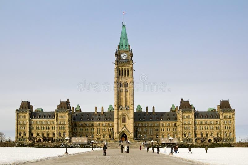 Parlamentbyggnad i Ottawa royaltyfri foto