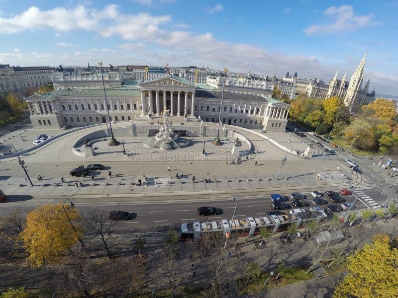 Parlamento austriaco a Vienna immagini stock