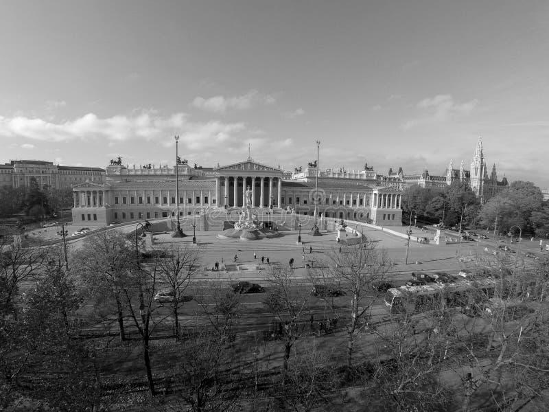Parlamento austriaco a Vienna immagine stock libera da diritti