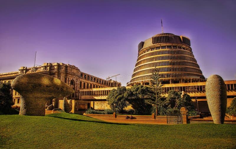 Parlamento della Nuova Zelanda immagini stock libere da diritti