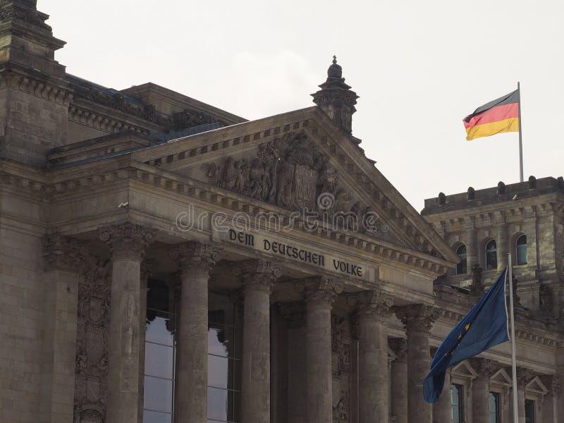 Parlamento di Bundestag a Berlino fotografie stock