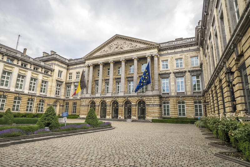 Parlamento Europeo, Bruselas, Bélgica foto de archivo libre de regalías