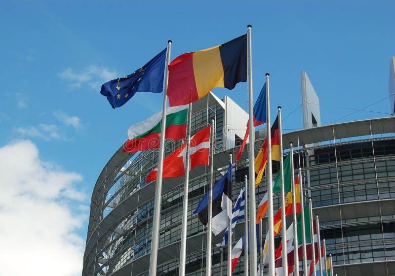Parlamento Europeo di Strasburgo fotografie stock libere da diritti