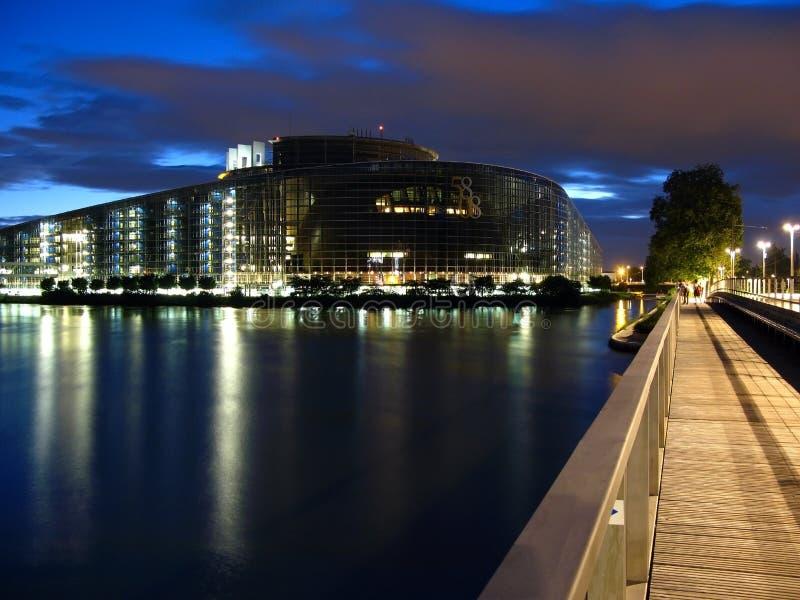 Parlamento Europeu 01, Strasbourg, France imagem de stock