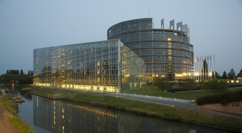 Parlamento Europeu imagens de stock royalty free
