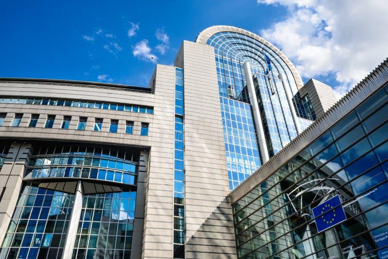 Parlamento Europeu, Bruxelas, Bélgica fotos de stock
