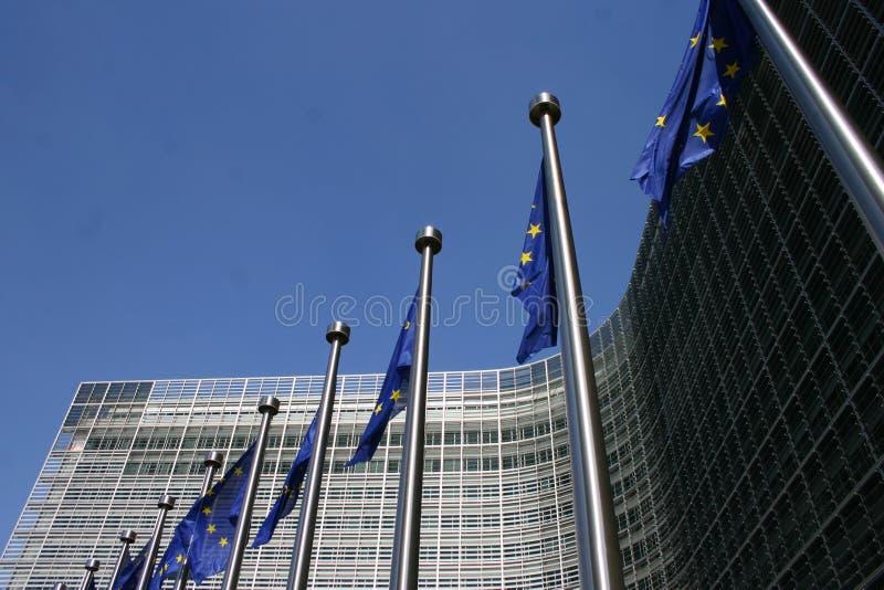 Parlamento Europeu em Bruxelas imagens de stock