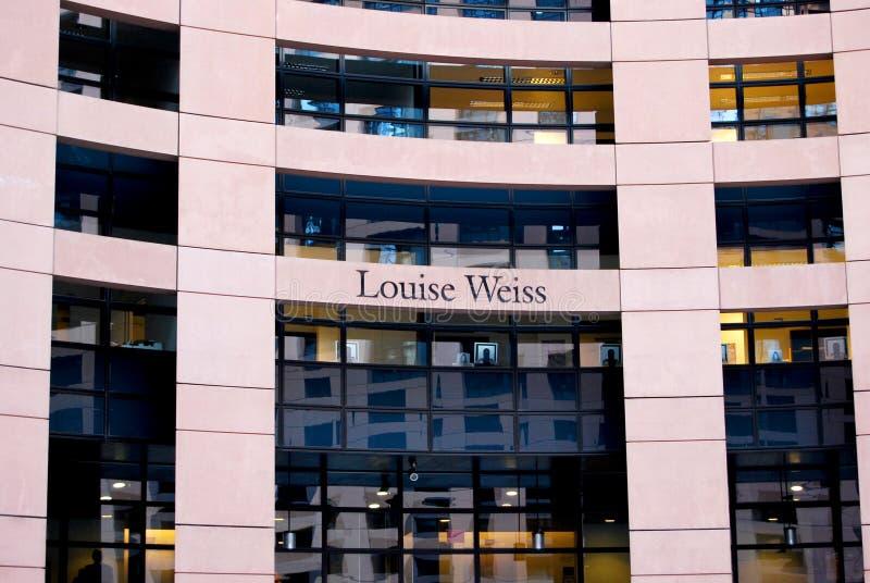 Parlamento Europeu, Strasbourg, França fotografia de stock