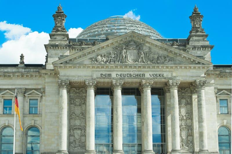 Parlamento tedesco Bundestag a Berlino, Germania immagine stock libera da diritti