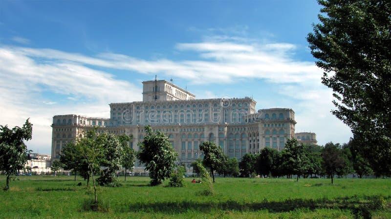 Parlaments-Palast in Bucharest stockfoto
