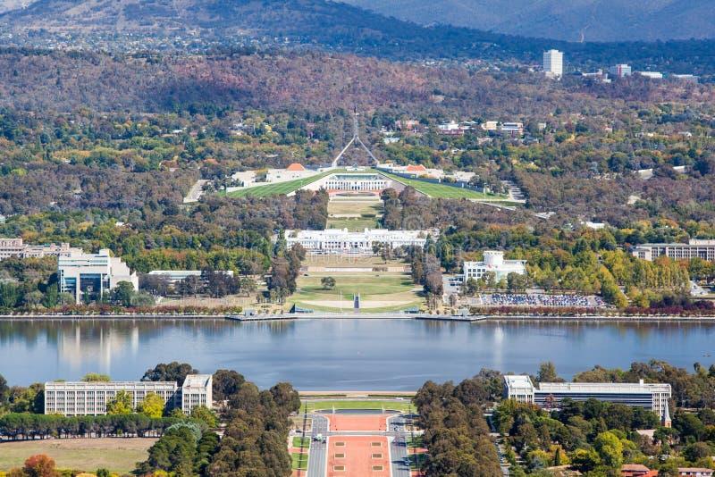 Parlamentsgebäude in Canberra stockbilder