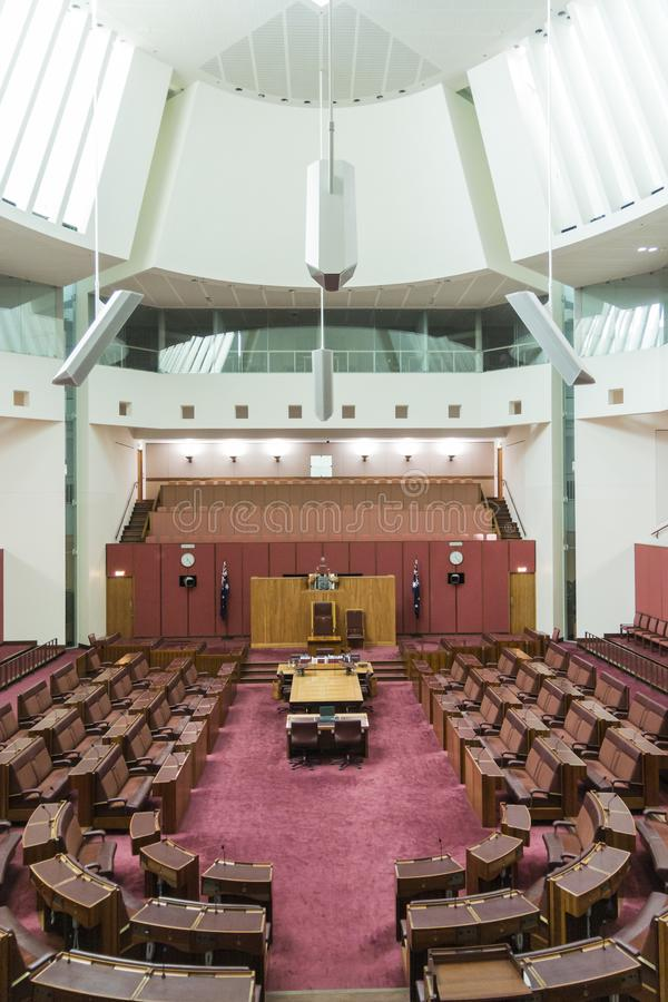 Parlamentsgebäude, Canberra, Australien lizenzfreie stockbilder
