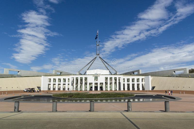 Parlamentsgebäude, Canberra, Australien stockbilder