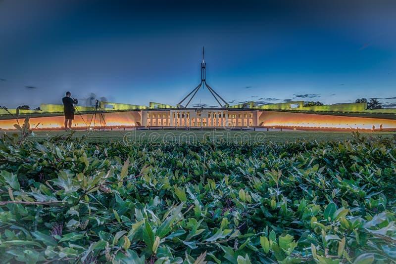 Parlamentsgebäude, Canberra, Australien lizenzfreies stockfoto