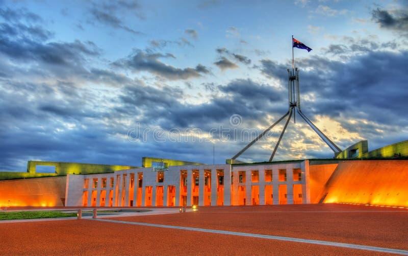 Parlamentsgebäude in Canberra, Australien stockfoto