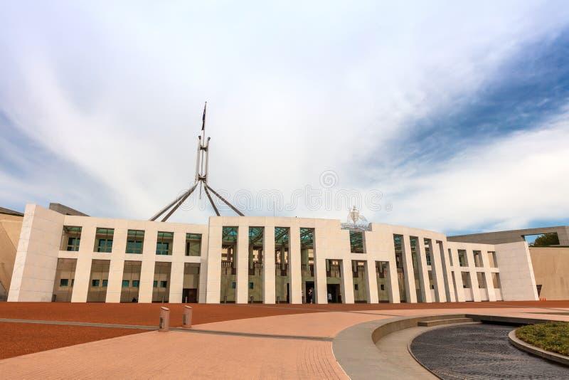 Parlamentsgebäude in Canberra ist der Treffpunkt des Parlaments von Australien lizenzfreies stockfoto