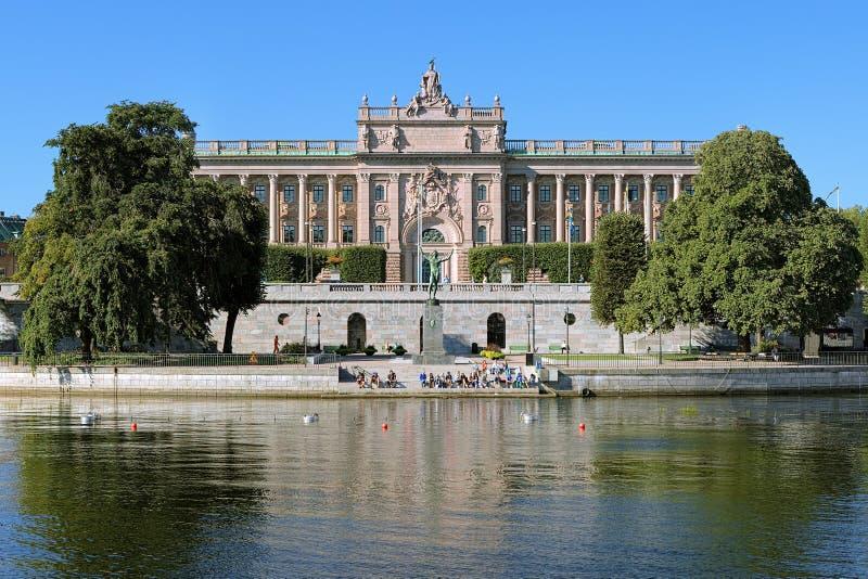 Parlamentsgebäude in Stockholm, Schweden stockfotos