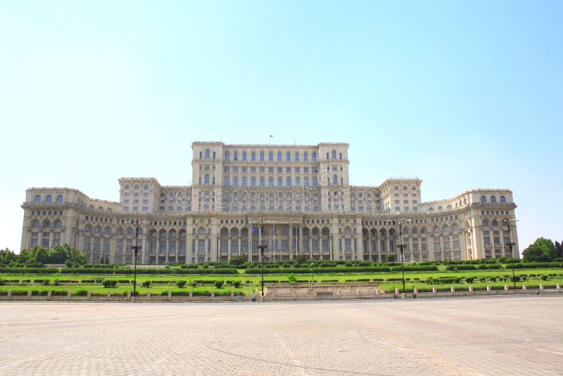 Parlamentslott huset för folk` s, Bucharest, Rumänien royaltyfria bilder
