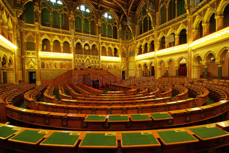 Parlamentssitze stockfotografie