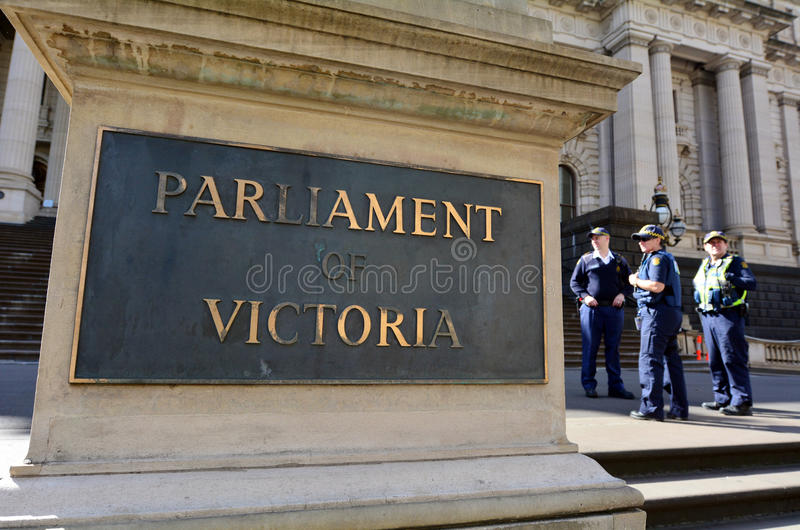 Parlamentu dom - Melbourne zdjęcia royalty free