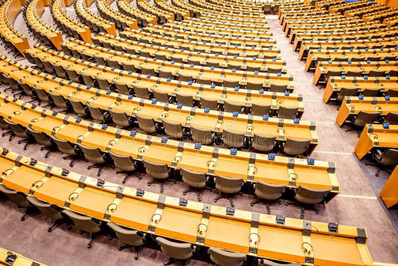 Parlamentu Europejskiego wnętrze obraz stock