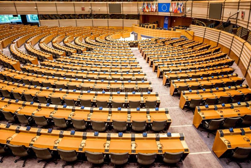 Parlamentu Europejskiego wnętrze zdjęcia stock