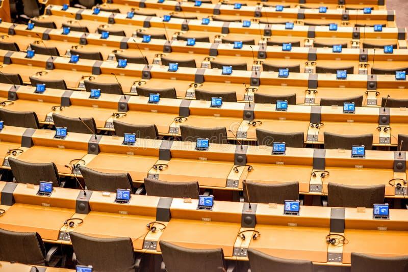 Parlamentu Europejskiego wnętrze obrazy royalty free
